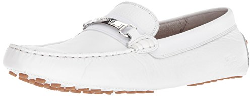 Lacoste Men's ANSTED 318 2 U Driving Style Loafer, White/Gum, 8.5 Medium US (Moccasins Men For Lacoste)