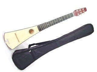 35'' ACOUSTIC GUITAR - NATURAL WOOD - Backpack Hawaiian - Bag NEW SET by EDMBG
