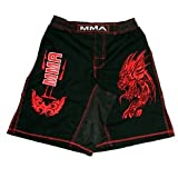 MMA Board Shorts in Rib Stop Cotton with Red Embroidery Size L