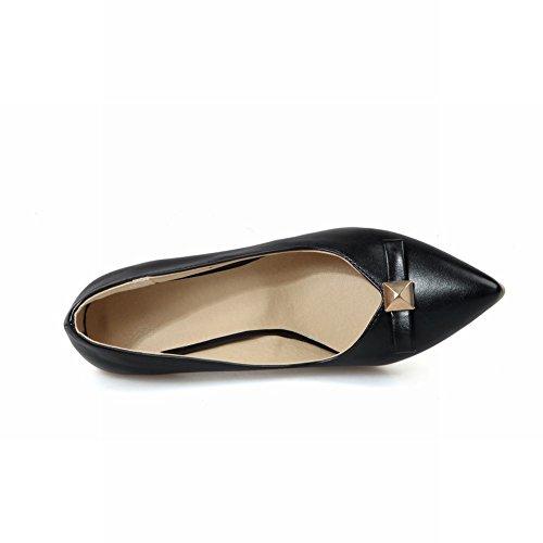 MissSaSa Damen high heel Pointed Toe Schleife Pumps mit Stiletto Schwarz