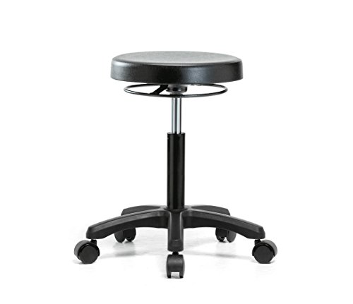 Perch Polyurethane Work Stool Heavy Duty for Lab Workshop Garage Office or Home (Soft Floor Casters) 20