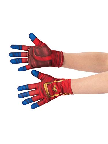 (Captain Marvel Child's Costume Accessory Gloves Red/Blue )