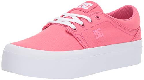 - DC Women's Trase Platform TX Skate Shoe, hot Pink, 6 M US