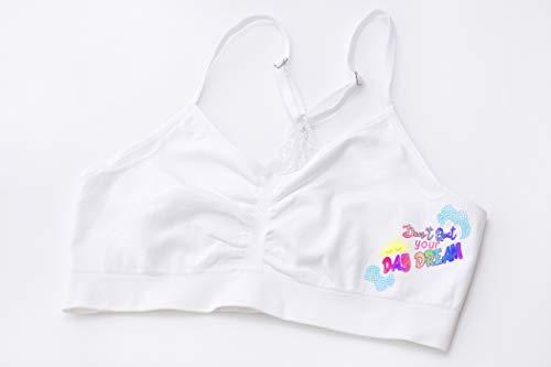 JstBU Valentina Lace Bralette for Girls - Lace Back Bralette with Padding