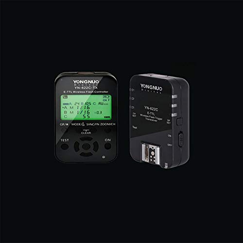 Price comparison product image Ocamo YONGNUO YN622C-KIT Wireless E-TTL Flash Trigger Kit with LED Screen for Canon