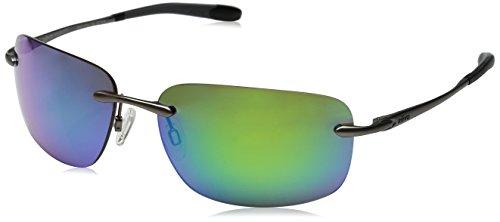 Revo Outlander Polarized Rectangular Sunglasses, Gunmetal/Green Water, 60 - Amazon Revo Sunglasses