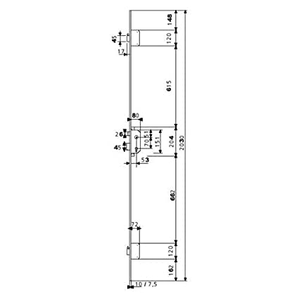 TESA TLPN366LE Cerradura Multipunto de Embutir
