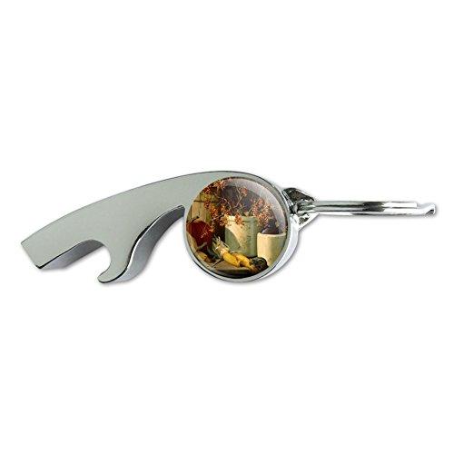(Fall Autumn Harvest Chipmunk Pumpkin Thanksgiving Chrome Plated Metal Whistle Bottle Opener Keychain Key Ring)