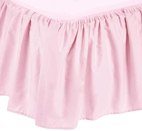 American Baby Company Ultra Soft Microfiber Ruffled Porta/Mini-Crib Skirt, Blush Pink, for Girls