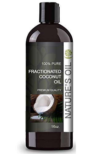 (Fractionated Coconut Oil (MCT Oil) Oil 15oz for Aromatherapy, Massage, Diluting Essential Oils, Hair & Skin Care Benefits, Moisturizer & Softener - by Nature's Oil.)