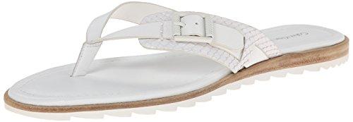 Calvin Klein CK Jeans Women's Opel Flip Flop, White, 6 M US Calvin Klein Ck Denim