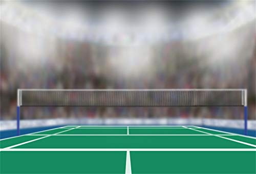Laeacco 8x6.5ft Badminton Stadium Backdrop Vinyl Photography Background Bokeh Sports Spectator Seats Badminton Match Children Kids Adults Portrait Shoot Video Studio Props (Best Badminton Matches Videos)