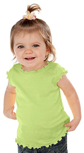 Kavio! Infants Lettuce Edge Scoop Neck Cap Sleeve