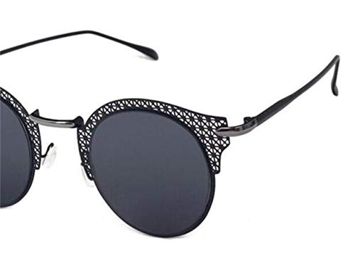 Lunettes Cool des de lunettes Black soleil Huyizhi creux soleil métal en voyager lunettes de conduisant cadre de de unisexe 5gBdwdP