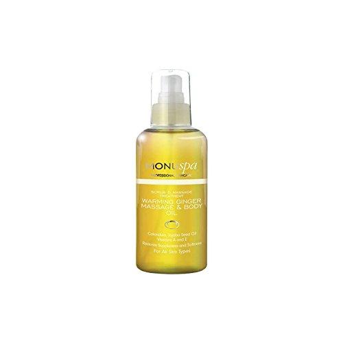 温暖化ジンジャーボディオイル100ミリリットル x2 - MONUspa Warming Ginger Body Oil 100ml (Pack of 2) [並行輸入品] B07255GJY1