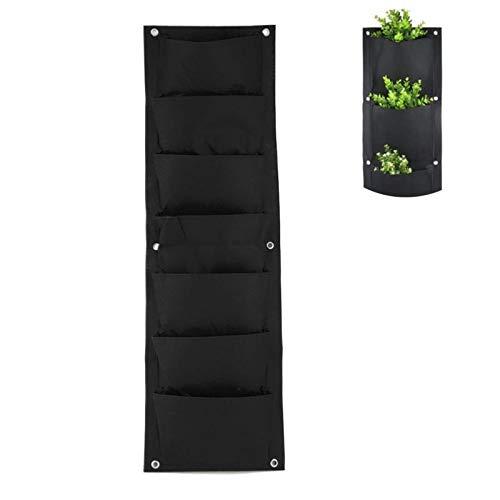 - LOCHI 9630cm 7 Pockets Vertical Garden Planter Grow Bag Wall-Mounted Planting Flower Bags Vegetable Living Garden Supplies