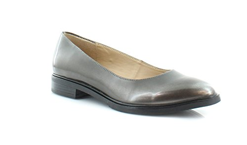 Naturalizer Womens Bengol Closed Toe Loafers Flats Shoes Chrome Smooth Size 7.5