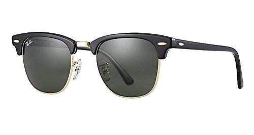 Ray-Ban RB3016 Clubmaster Sunglasses (49 mm, Solid Black G15 ()