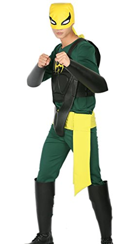 [Iron Fists Costume Deluxe Polyester PU Vest Hat Cosplay Outfit XXL] (Iron Fist Costumes For Kids)
