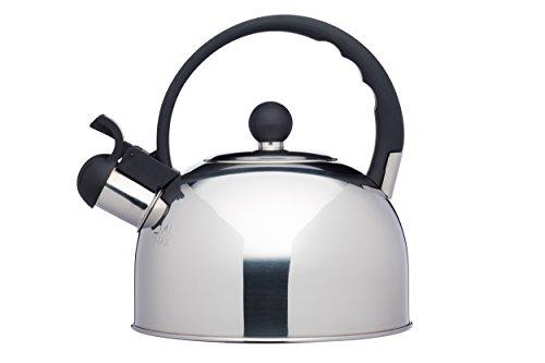 Kitchencraft Le Xpress–Hervidor de agua con silbido, apto para induccion, hornillo,, 1,3litros–acero inoxidable