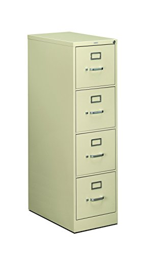 HON 4-Drawer Filing Cabinet - 510 Series Full-Suspension Letter File Cabinet, 52 by 25-Inch, Putty ()