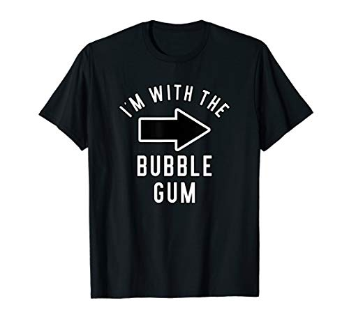 Couples Halloween Costume Shirts I'm With The Bubble Gum