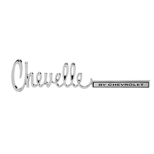 Eckler's Premier Quality Products 50203756 Chevelle Trunk Emblem Chevelle By Chevrolet (Chevrolet Chevelle Trunk)