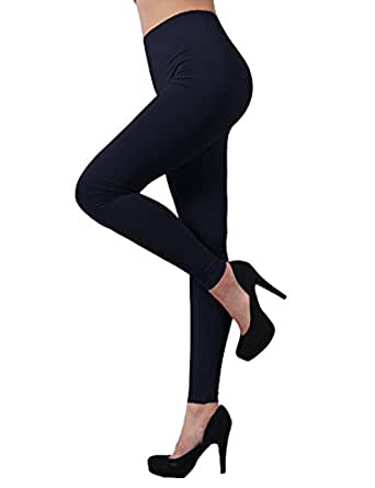 H2H SPORT Women's Skin Tights Flexible Compression Base Layer Running Leggings Pants NAVY US 2XL/Asia 3XL (KWBLP016)