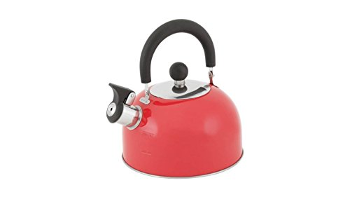 Mainstays Nylon Handle 1.8-Liter Red Stainless steel Tea Ket