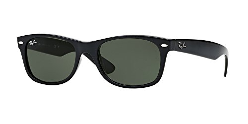 G15 Lens Sunglasses - Ray-Ban RB2132 New Wayfarer Sunglasses Unisex 100% Authentic (Matte Black Frame Solid Black G15 Lens, 58) ...