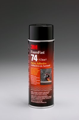 - 3M(TM) Foam Fast 74 Classic Spray Adhesive Orange Original Formula, Net Wt 17.25 oz, 12 per case, Not for sale or use in CA & other states. Consult local air quality rules before use.