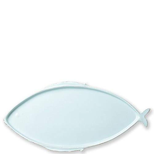 Vietri Melamine Lastra Fish Aqua Large Oval Platter