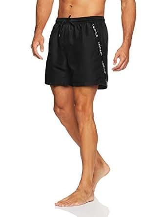 Calvin Klein Men's Medium Length Drawstring Short, Black, S