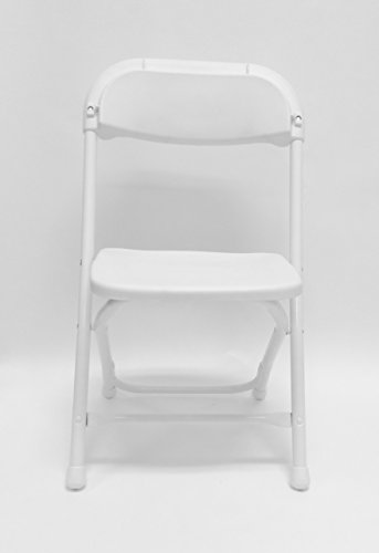 10 Piece Kids Plastic Folding Chairs Package - White by ACT