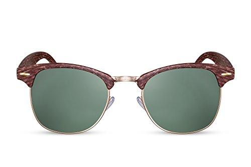 Sunglasses 006 Hommes Miroitant Ca Rétro Cheapass Femmes Marron Clubmaster FwqFdxX0