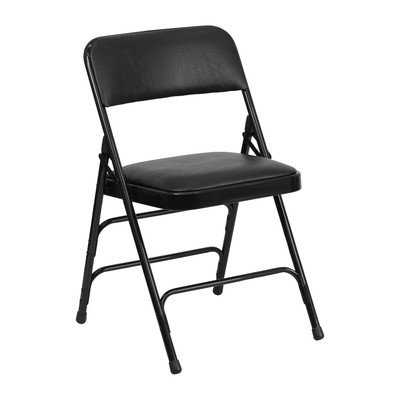 Hercules Series Folding Chair [Set of 4] Finish: Black