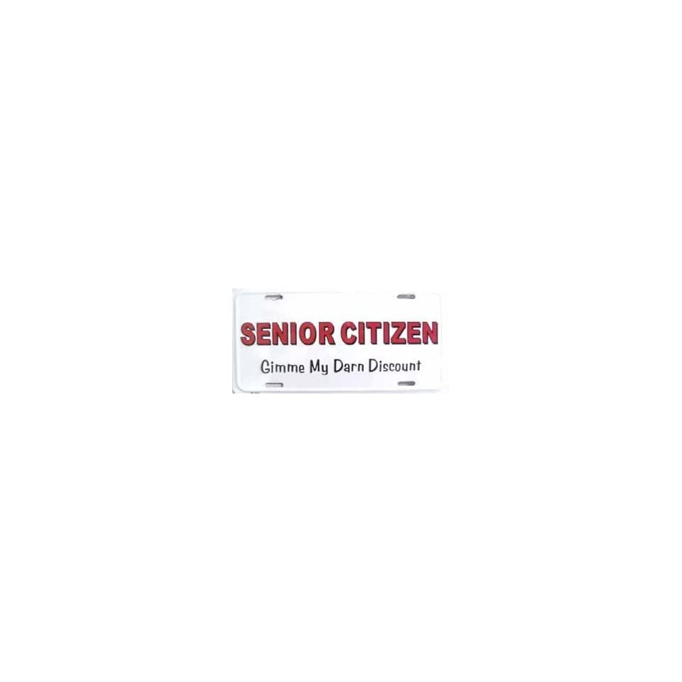 Senior Citizen Discount License Plate
