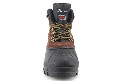 Jaime Aldo Parrazo Mens Heavy Thermo Insulated Winter Duck Snow Boots Brown OZA96d3NSc