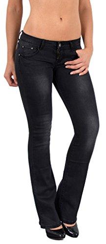 by-tex Jean femme bootcut Jean taille basse pantalon Boot Cut BB Typ-j44