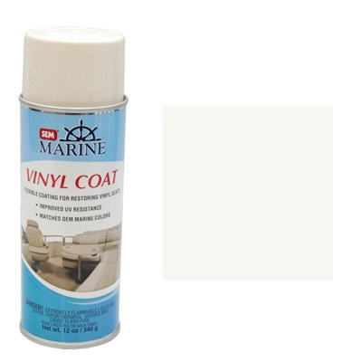 SEM Marine Ranger OFF-White Vinyl Coat Vinyl and Plastic Repair Coating for Marine Vinyl