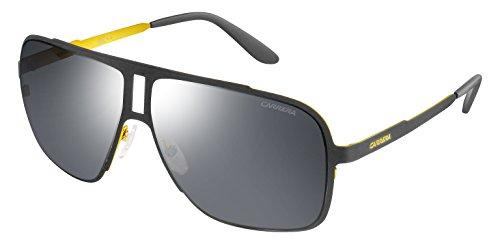 Carrera Men's Ca121s Rectangular Sunglasses, Matte Grey/Black Mirror, 62 mm