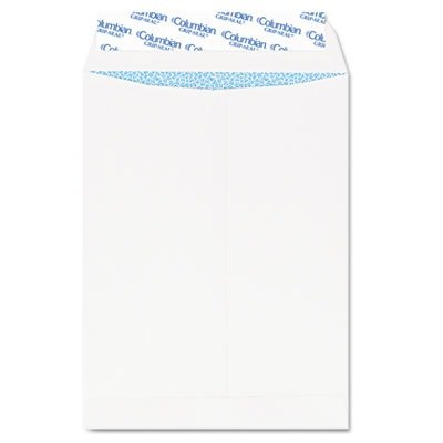 Seal Catalog Envelopes Grip - QUALITY PARK PRODUCTS CO929 Grip-Seal Security Tinted Catalog Envelopes, 10 x 13, 28lb, White Wove, 100/Box