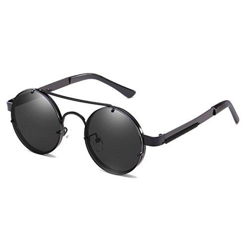 del del de Gafas C2 sol la Steampunk retro de UV400 de marco hibote lente Gafas metálico del redondas sol reflector tBxqwdT