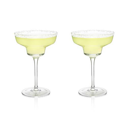 Used, Viski 5253 Raye: Crystal Margarita Glasses Multi Colored for sale  Delivered anywhere in Canada