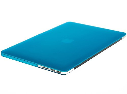 MOSISO Case Only Compatible with Older Version MacBook Pro Retina 13 inch (Models: A1502 & A1425) (Release 2015 - end 2012), Plastic Hard Shell Case & Keyboard Cover & Screen Protector, Aqua Blue