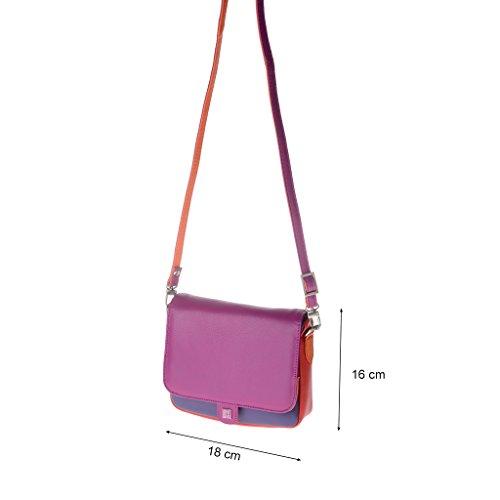 Dudu - Sac porté épaule en cuir - Colorful Collection - Ellesmere - Fuschia