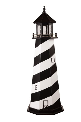 Beaver Dam Woodworks 5 Foot Amish Made Cape Hatteras Wooden Lighthouse