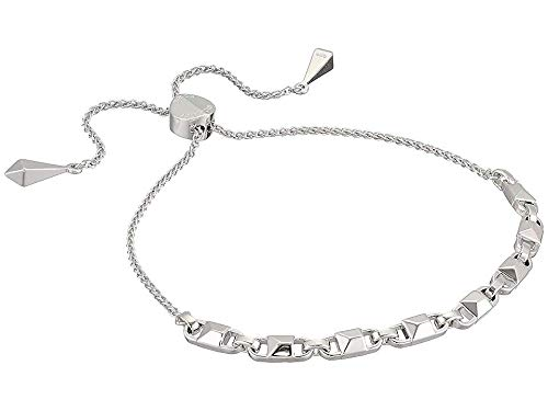 Michael Kors Women's Precious Metal-Plated Sterling Silver Mercer Link Slider Bracelet Silver One Size