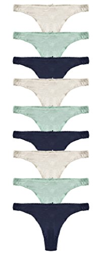 Cotton Whisper Mujeres Cotton Tangas 3 Piezas Multi-color 9 Piezas Varían