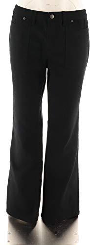 Liz Claiborne Women Clothing - Liz Claiborne NY Chic Regular Jackie Colored Boot Cut Jeans Black 8# A256493
